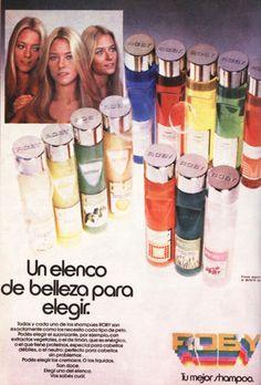 Shampoo para Las Trillizas de Oro, década del 80.