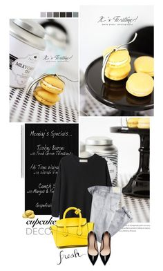 """""""Lemon cupcakes"""" by somatramoroi ❤ liked on Polyvore featuring Cooper Classics, Organic by John Patrick, AG Adriano Goldschmied, Bally and Zara"""