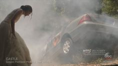 "Castle 7x01 ""Driven"" Sneak Peek Beckett at the Car Crash Premiere Sept 2..."