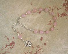 Aphrodite Prayer Bead Bracelet in Rose Quartz: Greek Goddess of Love and Beauty by HearthfireHandworks on Etsy
