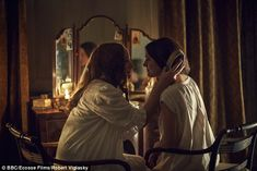 Woolf, played by Lydia Leonard and Vanessa Bell, played by Phoebe Fox, get close during the drama