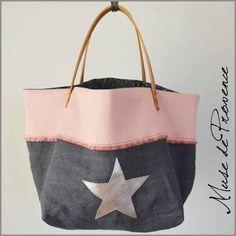 sac-cabas-lin-cuir-2 Sac Vanessa Bruno, Sac Week End, Diy Sac, Denim Crafts, Diy Handbag, Handmade Purses, Couture Sewing, Linen Bag, Denim Bag