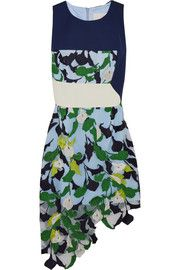 Peter Pilotto Lydia jersey and embroidered tulle dress