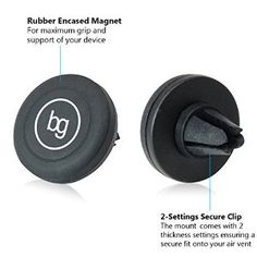 Car Mount, Blue-Garuda Magnetic Air Vent Phone Holder - As Seen On TLD - For All Smartphones inc. Apple iPhone 6/6 Plus/5s/5c/4s, Samsung Note 4/Edge/S6/S5, Cell Phones, Mini Tablets, GPS Devices - Money Back Guarantee With Extra Bonus - No More Suction Marks
