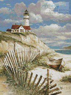 cross stitch patterns of lighthouses - Google Search