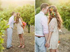 Orange Crush Wedding Inspiration photo by onelove photography