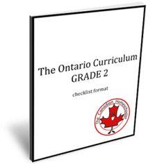 The Ontario Grade 2 Curriculum in Checklist Format