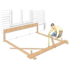 a veteran pro tells you his favorite deck building tips that speed up the job, increase deck durability and improve quality. the result is a better deck, less hassle and fewer problems. (Patio Step The Family Handyman) Deck Building Plans, Deck Plans, Under Deck Roofing, Under Deck Ceiling, Deck Footings, Trex Decking, Composite Decking, Decking Planks, Second Story Deck