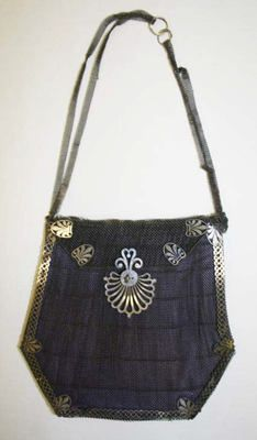 Purse; ca. 1800; French; steel, silk | The Metropolitan Museum of Art