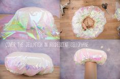 Learn how to make a jellyfish and pincushion headpiece for Halloween