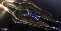 Ender's Game, Concept Art by James Clyne-Giant Frog Studios Alien Spaceship, Spaceship Design, Spaceship Concept, Concept Ships, Alien Concept Art, Game Concept Art, Sience Fiction, Starfleet Ships, Alien Ship