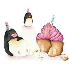 Pikkewyn loves cake!