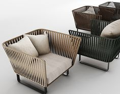 Outdoor Furniture Sofa, Outside Furniture, Balcony Furniture, Steel Furniture, Outdoor Chairs, Kettal Furniture, Sofa Design, Balcony Chairs, Private Dining Room