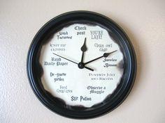Harry Potter Clock by LetterThings on Etsy https://www.etsy.com/listing/218346728/harry-potter-clock