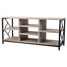 A modern TV stand with many shelves / #furnituredesign #furniture