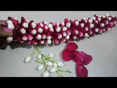 How to String Rose Petals garland || Easy Method to make garland Rose Petals || Rainbow Rangoli - YouTube