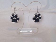 Epoxy Paw Print Earrings