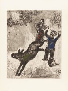 """L'ane et le chien"" di Marc Chagall"