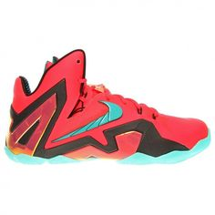 d74b3122b386b8 nike Lebron XI Elite Mens Hi Top Basketball Trainers 642846 Sneakers shoes ( UK US EU wolf grey laser crimson--cool grey-- black Choose colors and size