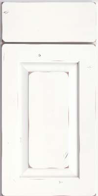 Square Raised Panel - Solid (AC6C) Rustic Cherry in Vintage Dove White - Base