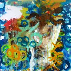 "good morning. by kenT youngstrom | $250 | 24""w x 24""h | Original Art | http://www.vangoart.co/buy/art/good-morning @VangoArt"