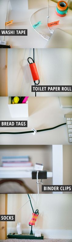 easy tips for DIY cord organization | Inspired to Share