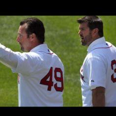 Boston Red Sox open pitch. Tek!