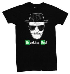 Amazon.com: Breaking Bad Heisenberg Walter White Sketch Logo TV Show Adult T-Shirt Tee: Clothing