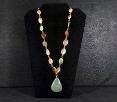 Check out Natural Gemstone Pendant Necklace on katscache