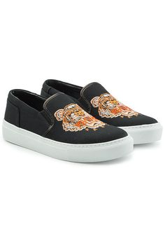 finest selection 6e6d0 977f9 KENZO   Embroidered Slip-On Sneakers  Shoes  KENZO