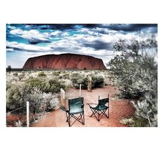 Enjoying the view of Uluru