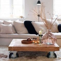 Living Room- Table Repurpose & Reuse Old Stuff First Home, Home Living Room, Modern Contemporary, Beautiful Homes, Repurposed, Sweet Home, New Homes, Room Decor, Table