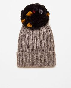 2d97796ba Image 2 of SUPERSIZE KNIT POMPOM HAT from Zara Winter Accessories