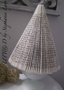 Recycled Book Christmas Tree
