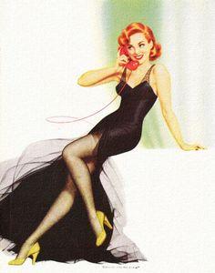 Edward D'Ancona pinup Retro Humor, Vintage Humor, Vintage Ads, Vintage Images, Nostalgia, Key To Happiness, Pin Up Art, Pin Up Girls, Make Me Smile