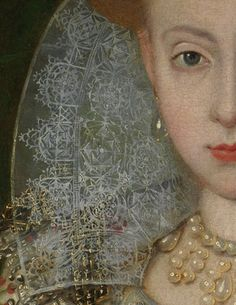 Elizabeth of Bohemia (detail) | Robert Peake the Elder | c 1606