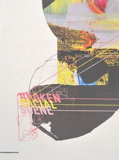 """THE BROKEN SOCIAL SCENE By: Nick & Nadine Date: 2010 Size: 18 x 24"""" Edition: 125 Colors: 10-color screen print"""