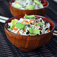 Slacker Sushi Bowls - California Rolls deconstructed and served in a bowl