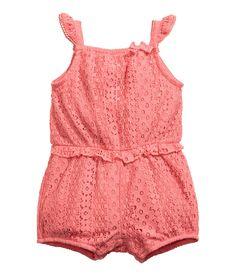 Lace Jumpsuit | Coral pink | Kids | H&M US