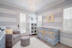 Parker's Grey and Yellow Nursery by Beach Bungalow Designs