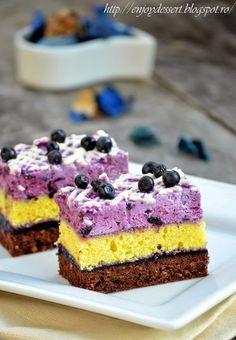 Blueberry Mousse Black & White Cake