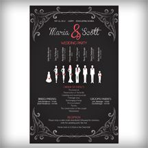 """New Black White and Coral Wedding Programs by """"Designed by Shona"""""""