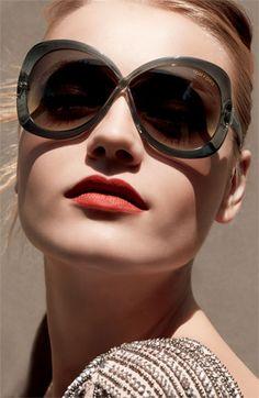 Tom Ford 'Margot' Oversized Sunglasses