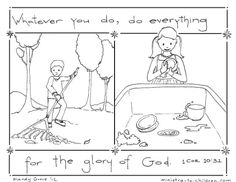 """For Labor Day lesson??? """"Do Everything for the Glory of God"""" based on 1 Cor 10:31"""