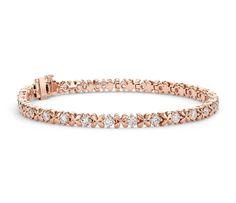 Rose Petal #Diamond Bracelet in 18k Rose Gold #Jewelry