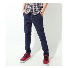 Newly Fashionable Harem Style Pure Color Casual Jeans M/L/XL/XXL... ($27) via Polyvore