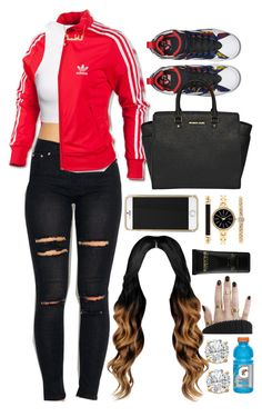 20 December, 2015 by jamilah-rochon on Polyvore featuring H&M, adidas, MICHAEL Michael Kors, Style & Co. and Elizabeth and James