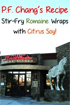P.F. Chang's Recipe: Ginger Chicken Stir-Fry Romaine Wraps with Citrus Soy! #copycatrecipes #pfchangs #recipes