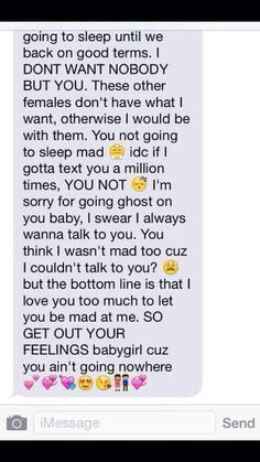 Awww that is 2 sweet yo.......i want a text like this in the future......that would make me want 2 cry in mean this is so cute and adorable coming from a dude! awwww