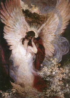 Dean Cornwell (1892-1960) - The Other Side, 1918 Angel Art, Arte Digital, Dean Cornwell, Master Studies, Norman Rockwell, Religious Paintings, Artsy Fartsy, Old Art, Art Hoe